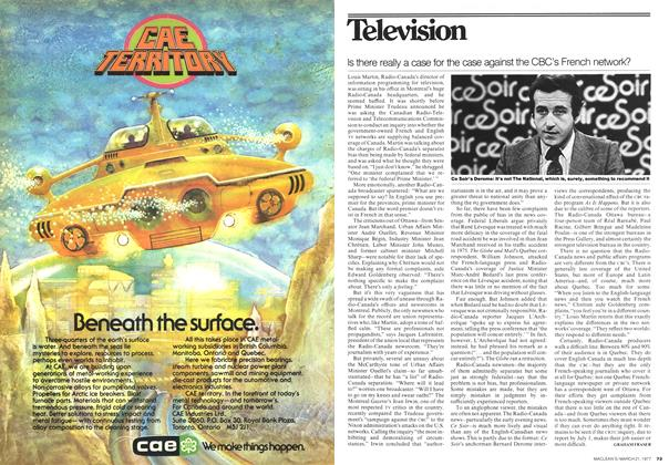 Article Preview: Is there really a case for the case against the CBC's French network?, March 1977 | Maclean's