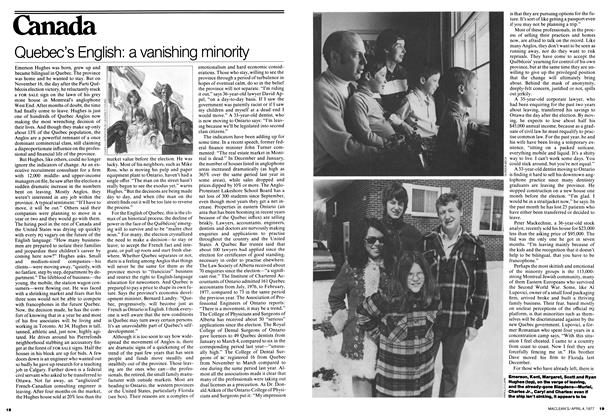 Article Preview: Quebec's English: a vanishing minority, April 1977 | Maclean's