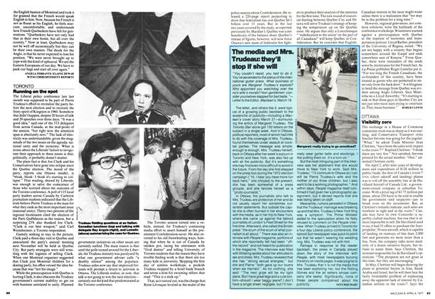 Article Preview: Running on the spot, April 1977 | Maclean's