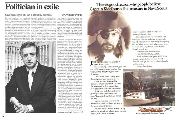 Article Preview: Politician in exile, April 1977 | Maclean's