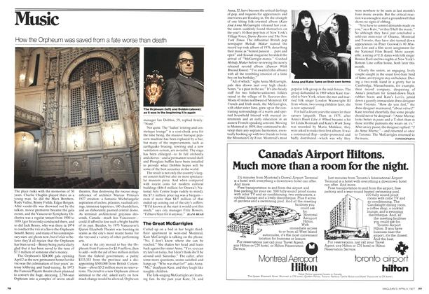 Article Preview: The Great McGarrigles, April 1977 | Maclean's