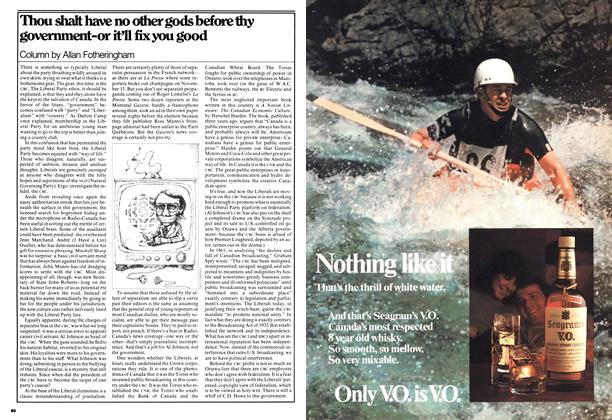 Article Preview: Thou shalt have no other gods before thy government-or it'll fix you good, April 1977 | Maclean's