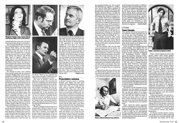Article Preview: Prescription: unionize, April 1977 | Maclean's