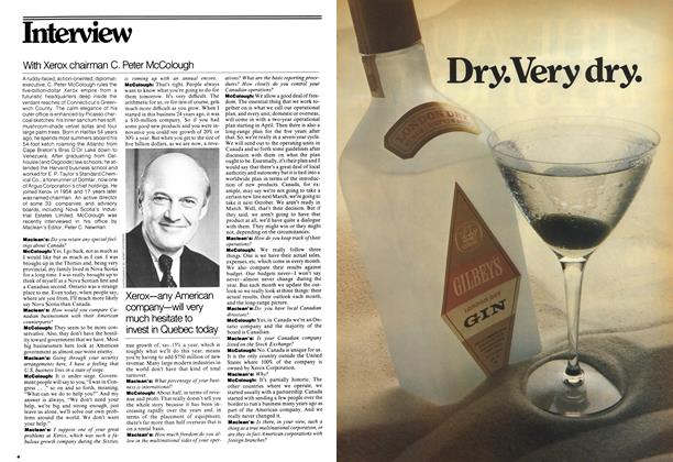 Article Preview: With Xerox chairman C. Peter McColough, April 1977 | Maclean's