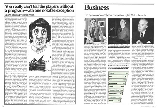 Article Preview: You really can't tell the players without a program-with one notable exception, April 1977 | Maclean's