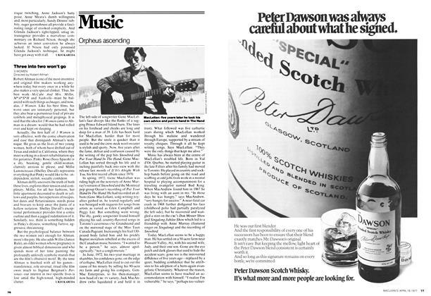 Article Preview: Orpheus ascending, April 1977 | Maclean's