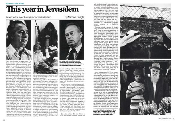Article Preview: This year in Jerusalem, May 1977 | Maclean's