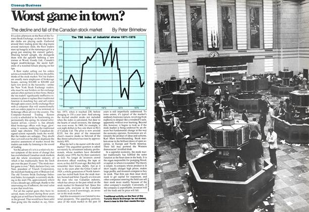 Article Preview: Worst game in town?, May 1977 | Maclean's