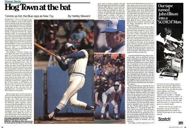 Article Preview: Hog Town at the bat, May 1977 | Maclean's
