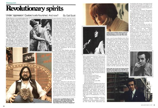 Article Preview: Revolutionary spirits, May 1977 | Maclean's
