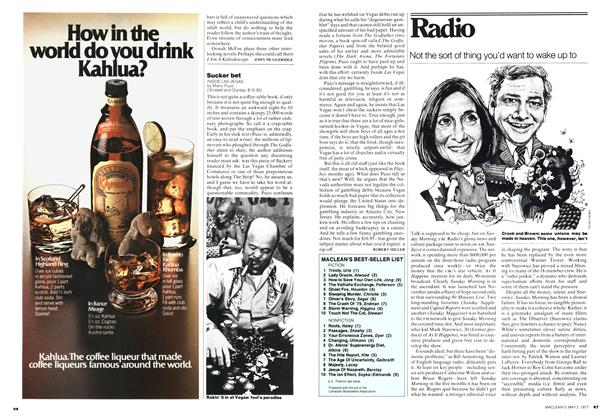 Article Preview: Sucker bet, May 1977 | Maclean's