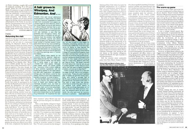 Article Preview: Returning the visit, MAY 16,1977 1977 | Maclean's