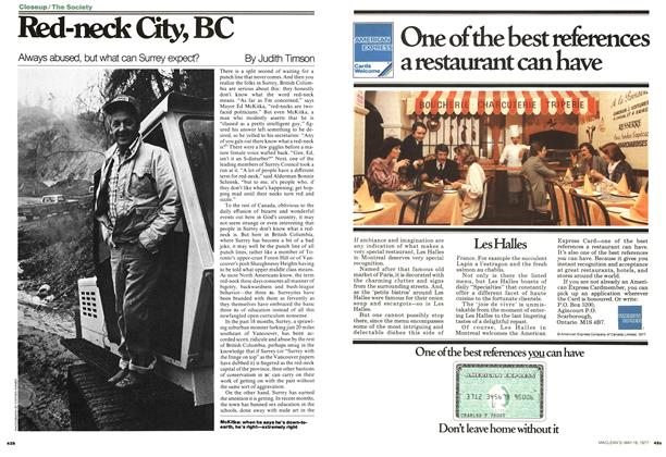 Article Preview: Red-neck City, BC, MAY 16,1977 1977 | Maclean's