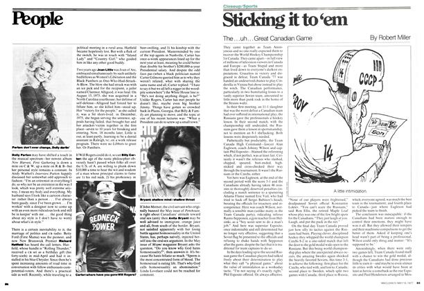 Article Preview: Sticking it to'em, MAY 16,1977 1977 | Maclean's