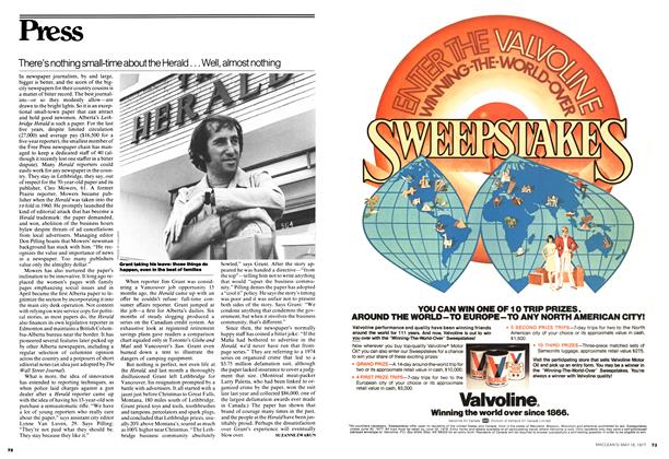 Article Preview: There's nothing small-time about the Herald... Well, almost nothing, MAY 16,1977 1977 | Maclean's
