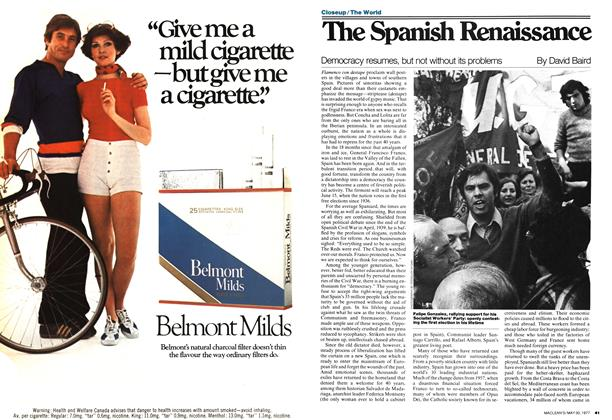 Article Preview: The Spanish Renaissance, May 1977 | Maclean's