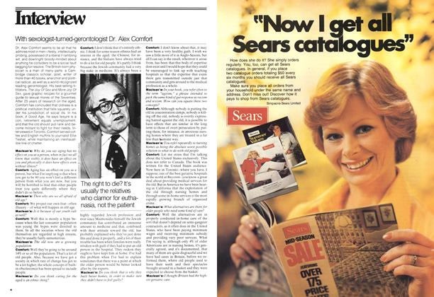 Article Preview: With sexologist-turned-gerontologist Dr. Alex Comfort, May 1977 | Maclean's