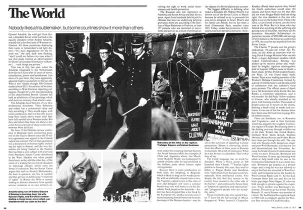 Article Preview: Nobody likes a troublemaker, but some countries show it more than others, June 1977 | Maclean's