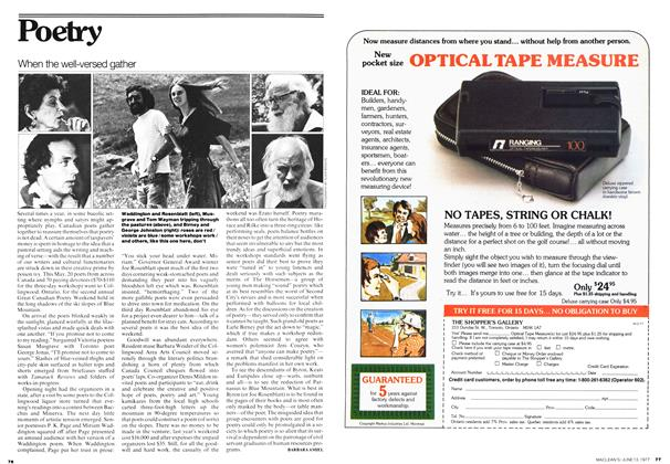 Article Preview: When the well-versed gather, June 1977 | Maclean's