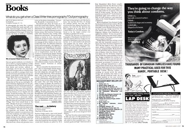 Article Preview: What do you get when a Class Writer tries pornography? Dull pornography, June 1977 | Maclean's