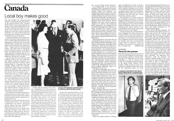 Article Preview: Three for the seesaw, June 1977 | Maclean's