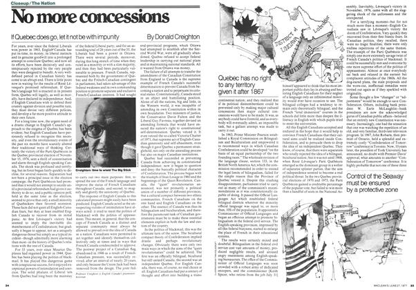 Article Preview: No more concessions, June 1977 | Maclean's