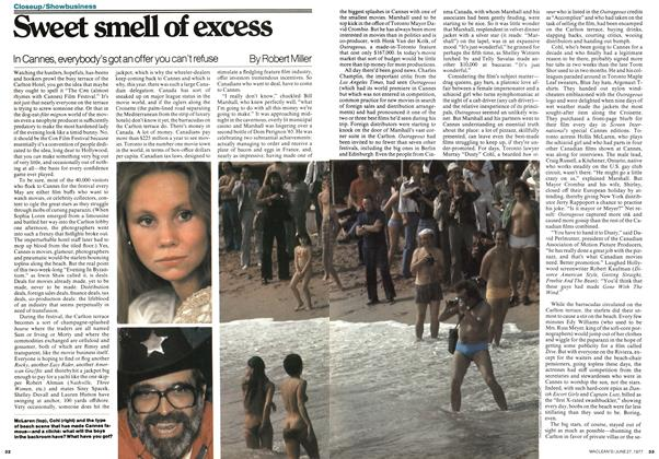 Article Preview: Sweet smell of excess, June 1977 | Maclean's