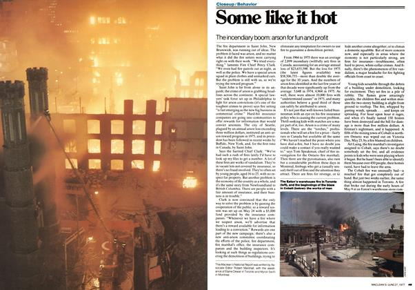 Article Preview: Some like it hot, June 1977 | Maclean's