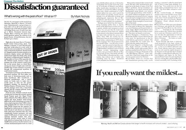 Article Preview: Dissatisfaction guaranteed, July 1977 | Maclean's