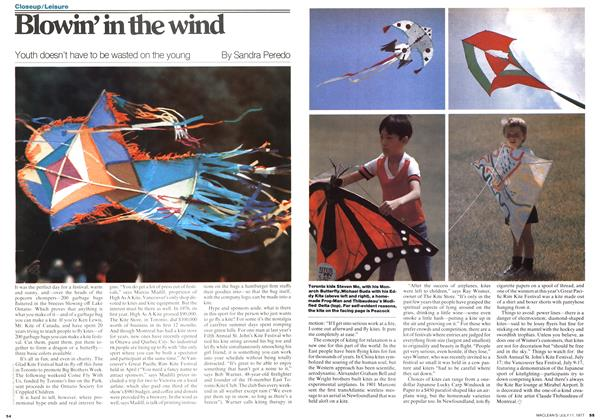 Article Preview: Blowin' in the wind, July 1977 | Maclean's