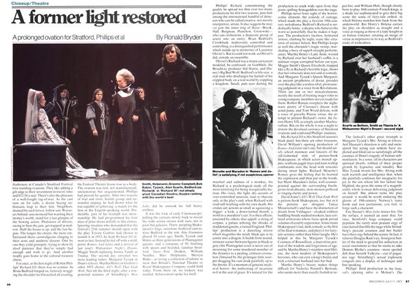 Article Preview: A former light restored, July 1977 | Maclean's