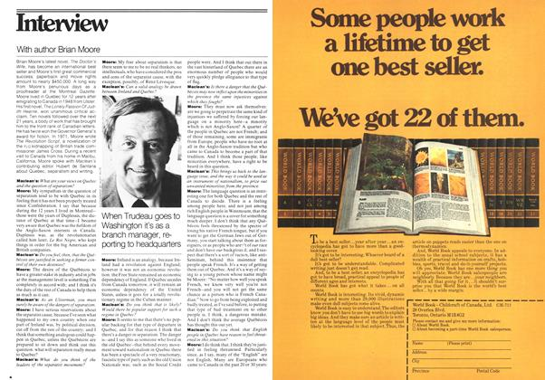Article Preview: With author Brian Moore, July 1977 | Maclean's
