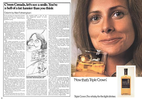 Article Preview: C'mon Canada, let's see a smile. You're a hell of a lot funnier than you think, July 1977 | Maclean's