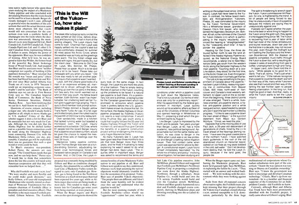 Article Preview: 'This is the Will of the Yukon— Lo, how she makes it plain!', July 1977 | Maclean's