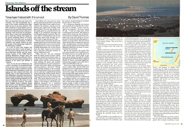 Article Preview: Islands off the stream, July 1977 | Maclean's