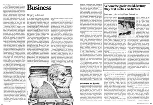 Article Preview: Advantage, Mr. Schmidt, July 1977 | Maclean's