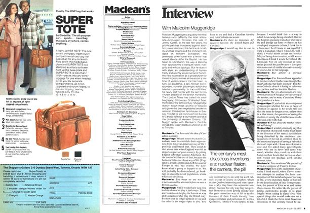 Article Preview: With Malcolm Muggeridge, July 1977 | Maclean's