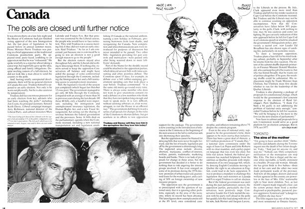 Article Preview: The polls are closed until further notice, August 1977 | Maclean's