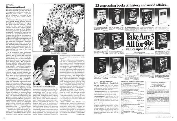 Article Preview: Misspeaking himself, August 1977 | Maclean's