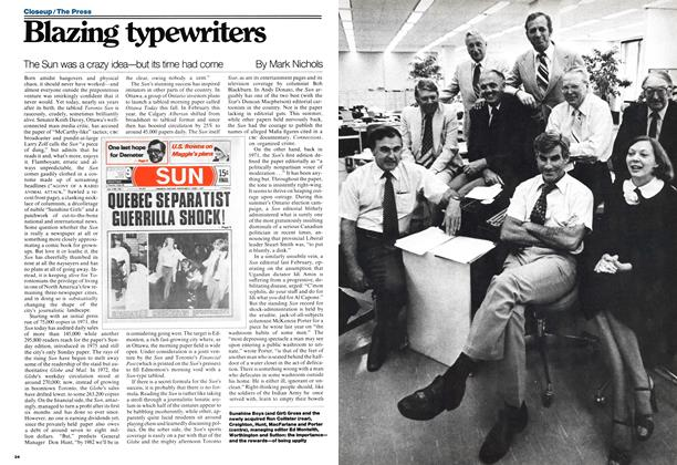 Article Preview: Blazing typewriters, August 1977 | Maclean's