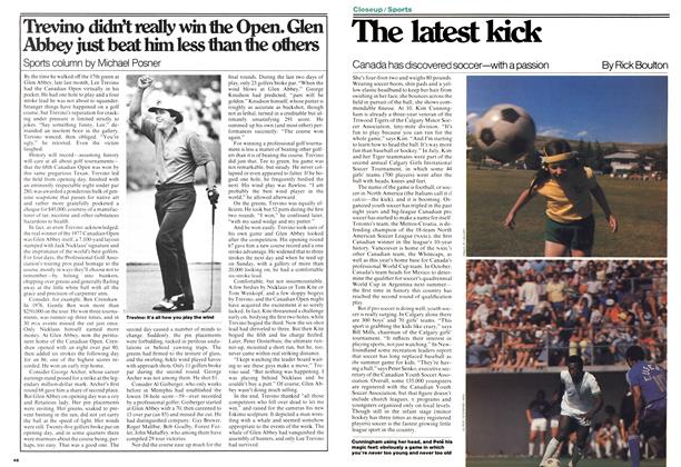 Article Preview: The latest kick, August 1977 | Maclean's