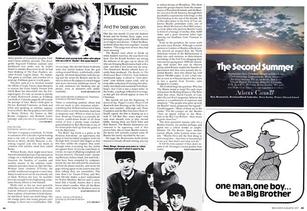 Article Preview: Days of Coke and popcorn, August 1977 | Maclean's