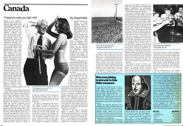 Article Preview: Prepare to walk your last 'mile', August 1977 | Maclean's