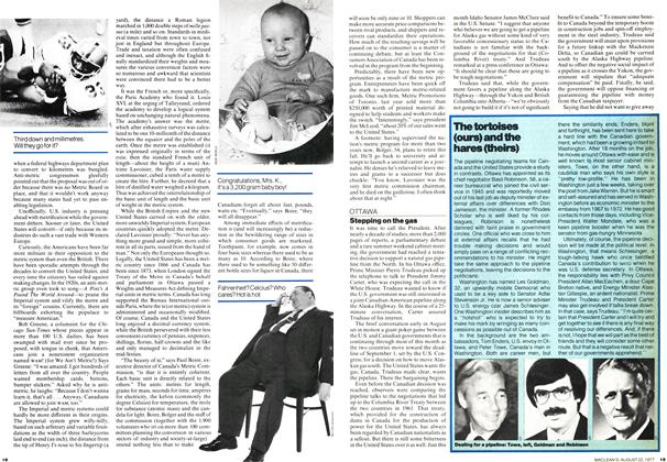 Article Preview: Stepping on the gas, August 1977 | Maclean's
