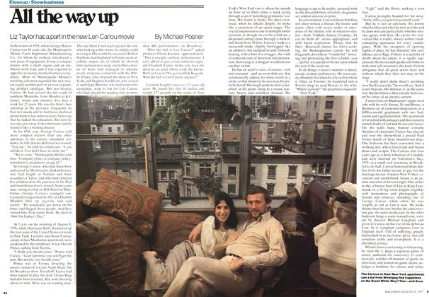 Article Preview: All the way up, August 1977 | Maclean's