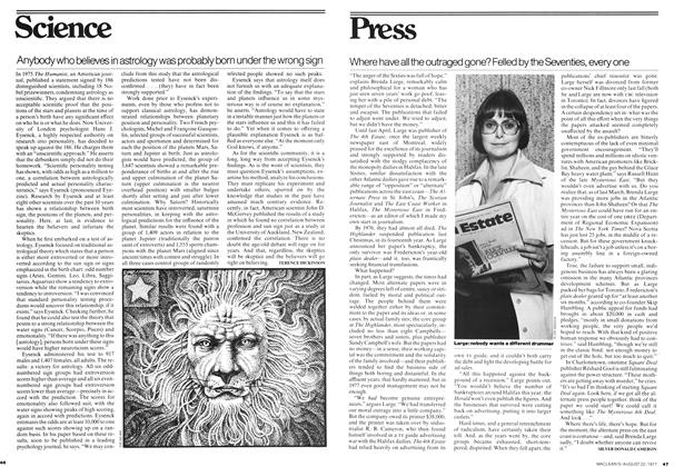 Article Preview: Anybody who believes in astrology was probably born under the wrong sign, August 1977 | Maclean's