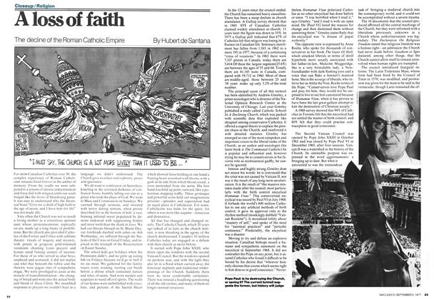 Article Preview: A loss of faith, September 1977 | Maclean's