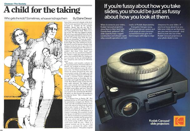 Article Preview: A child for the taking, September 1977 | Maclean's