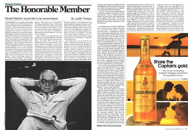 Article Preview: The Honorable Member, September 1977 | Maclean's