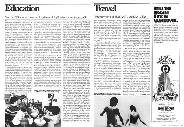 Article Preview: Unpack your bag, dear, we're going on a trip, September 1977 | Maclean's